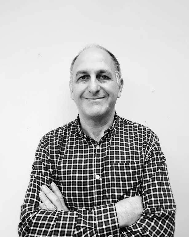 Dave Cohen in black & white, smiling